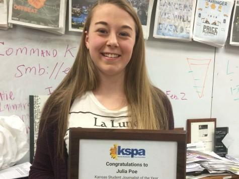 Julia Poe of Shawnee Mission East named top student journalist