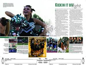 Yearbook spread Design 1st