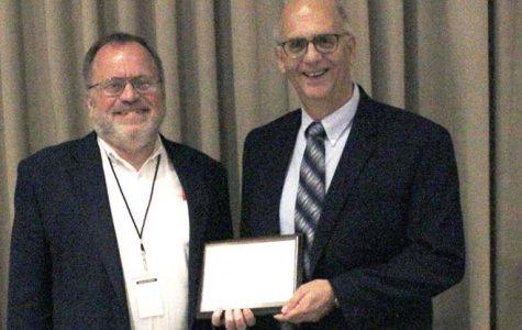 Bill Gasper of Hays High School wins Jackie Engel Award 2017